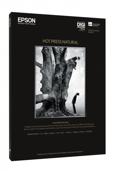 Epson Hot Press Natural A3+ 25Blatt
