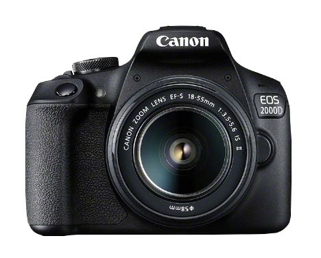 Canon EOS 2000D Kit mit EF-S 18-55 II IS