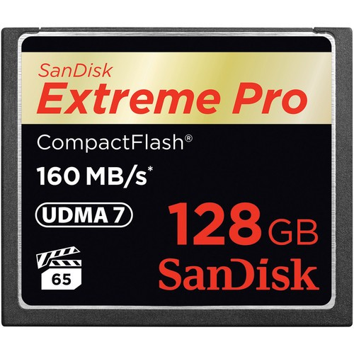 Sandisk CompactFlash 128GB EXTREME 160MB/s