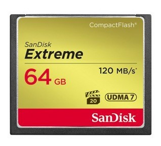 Sandisk CompactFlash 64 GB EXTREME 120MB/s