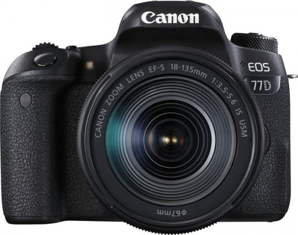 Canon EOS 77D Kit mit EF-S 18-135/3,5-5,6 IS USM Nano